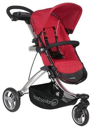 Amazon.com: Baby Planet Max Traveler 3-Wheel carriola ROJO ...