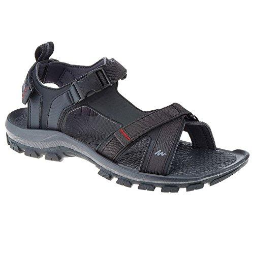 Xing Lin Sandali Di Cuoio Il Dehor Estivo Sandali Uomini Non-Slip Impermeabile Sport Per Il Tempo Libero A Base Piana Forclaz1,42, Scarpe Da Spiaggia Nera Di Uomini