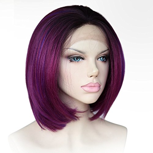 Cbwigs Purple Haircut Synthetic Resistant product image
