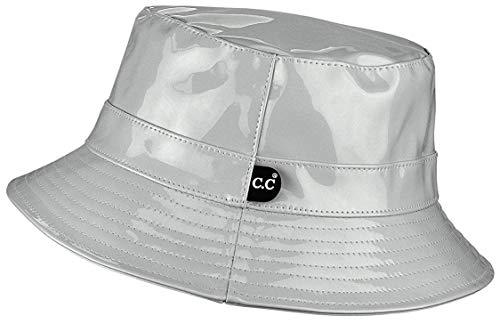 H-219-WP21 Waterproof Rain Bucket Hat Boonie Cap: Grey ()
