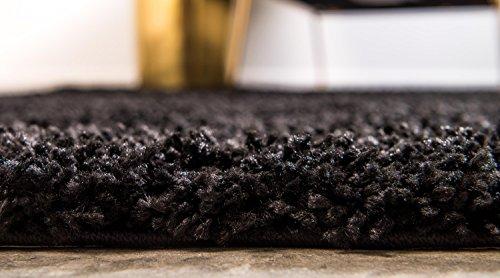Unique Loom Solo Solid Shag Collection Modern Plush Jet Black Rectangle (5' x 8') by Unique Loom (Image #5)