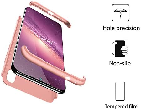 BESTCASESKIN Funda Xiaomi Redmi Note 7, Carcasa Móvil de Protección de 360° 3 en 1 Desmontable con HD Protector de Pantalla Carcasa Caso Case Cover ...