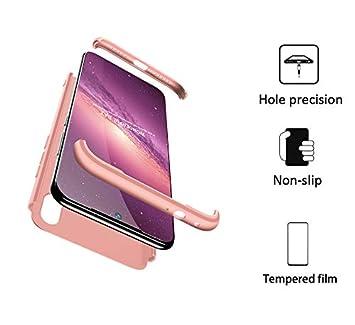FMPC Funda Compatible con Xiaomi Redmi Note 7 Pro, Caso Carcasa Xiaomi Redmi Note 7 Pro Slim Fit 360 Grados 3 in 1 Todo Incluido Protección Cover ...