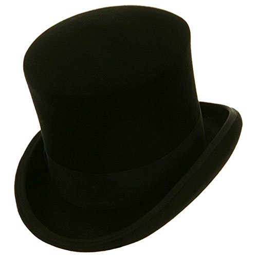 Black Victorian Mad Hatter Top Hat 60cm