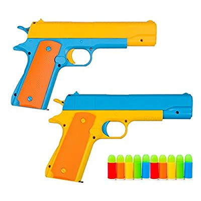 1Pcs Toy Gun Realistic 1:1 Scale Colt 1911 Rubber Bullet Pistol by Ferbixo that we recomend individually.