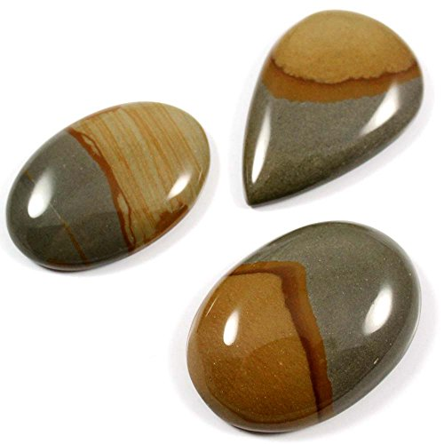 (Gems&Jewels 115.70 cts 100% Natural Top Designer Wild Horse Jasper Gemstone Mix Loose Cabochon 3 Pcs Lot)