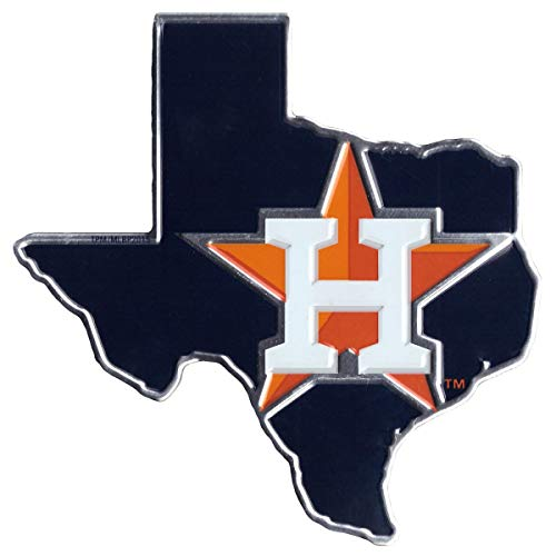 MLB Houston Astros Texas State Automobile Emblem, 3.75 x 2.25-inches (Mlb Houston Astros Decal)