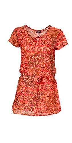 Coline coton t Rouge de voile Tunique OqOw7r8