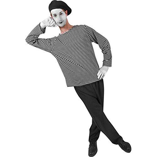 [Adult Men's Mime Halloween Costume] (Mime For Halloween)