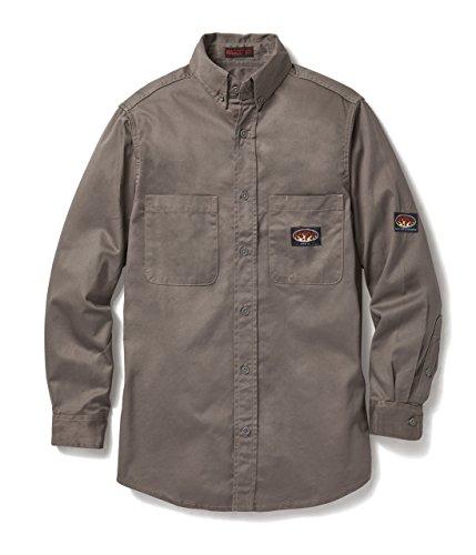 Rasco FR Gray Dress Shirt 7.5 oz Flame Resistant Lightweight GFB750 by Rasco FR