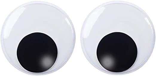 Amazon Com Decora 7 5 Inch Giant Googly Eyes Plastic Wiggle Eyes With Self Adhesive For Chritsmas Tree Party Decorations 2 Pieces Arts Crafts Sewing