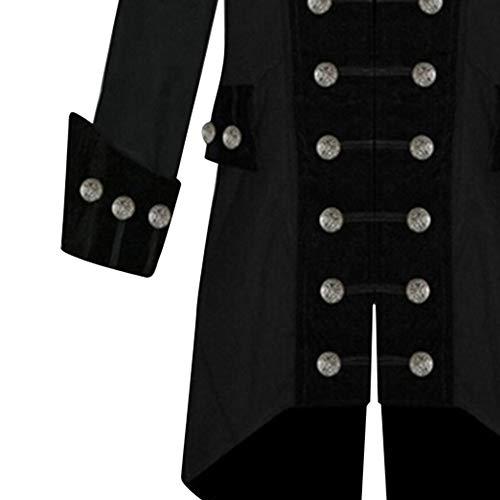 Fête Manteau Des Noir De Manteau Hommes Chaud Veste Vintage Shennanji Survêtement D'hiver qZwECEd