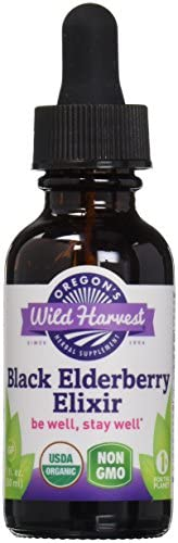 Oregon s Wild Harvest Organic Black Elderberry Elixir Extract, 1 Fluid Ounce