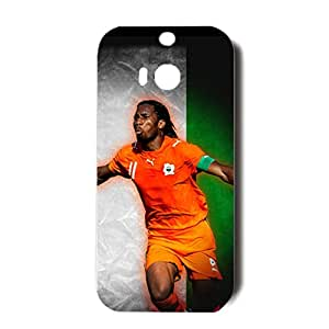 Customized The FA Premier League Design Chelsea Football Club Phone Case Unusal 3D Hard Back Case Cover for Htc One M8 with Didier Drogba Symbol