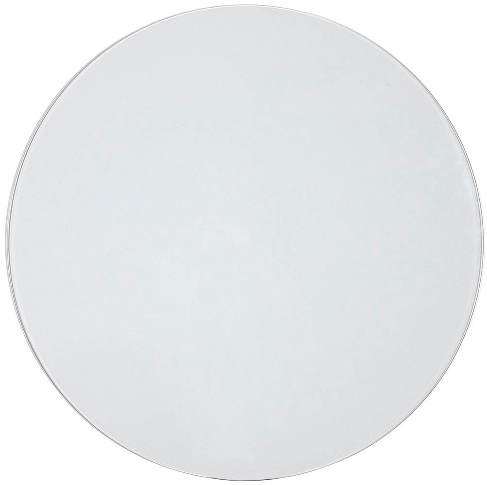 36 Inch Glass Table Top | 1/4'' Thick Tempered Polished Pencil Edge | 36'' No Bevel Premium Round Flat Circular Plate Glass | Perfect Circle