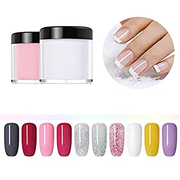 Amazon.com: NICOLE DIARY Dipping Powder Acrylic Nail Powder Without Lamp Cure Natural Dry Nail Glitter Long Lasting Fruity Series Nail Art Decoration 10 ...