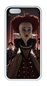 TPU White Color Soft Case For iPhone 5S Super Soft Ultra-thin Phone Case Suit iPhone5/5S Very Fine Workmanship Case Easy To Operate Alice In Wonderland 4