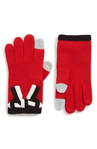 [ケイト スペード] レディース 手袋 kate spade new york bow appliqu gloves [並行輸入品]