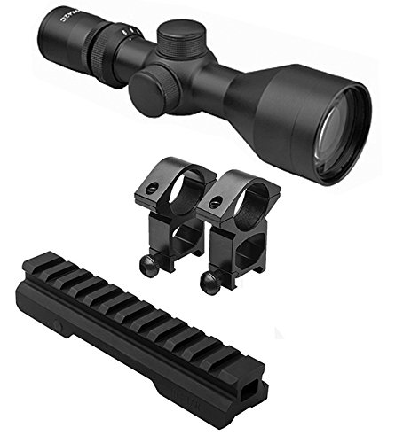 M1SURPLUS Optics Kit With Tactical 3-9x40 Compact Rifle Scope + Rings And Picatinny Mount Fits Mossberg MMR Remington Model 597 Ruger SR22 - Mount Remington Scope 597