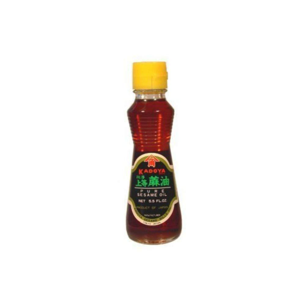 Kadoya Brand 100% Pure Sesame Oil 5.5oz Pack of 3 by Kadoya