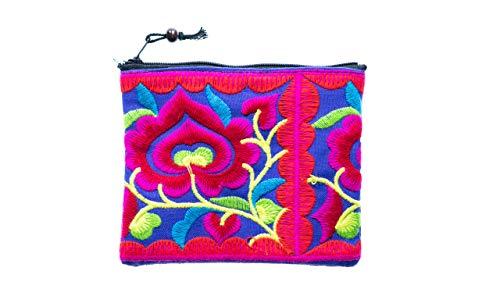 Cotton Rose, Hippie Coin Purse, Tiny Coin Purse, Hippy Purse, Bohemian Purse, Gypsy Purse, Hippie Purses, boho clutch purses (Bco Multicolor4)