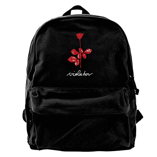 Canvas Backpack Depeche Mode Violator Rucksack Gym Hiking Laptop Shoulder Bag Daypack For Men Women ()