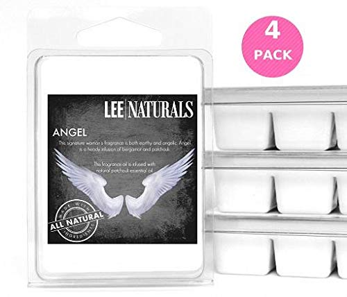 Lee Naturals Classic Collection - (4 Pack) ANGEL Premium All Natural 6-Piece Soy Wax Melts. Hand Poured Naturally Strong Scented Soy Wax Candle Cubes