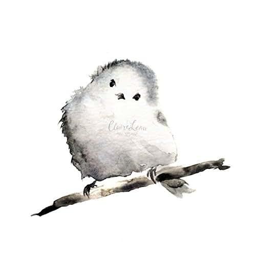 Amazon Com Handmade Original Art Watercolor Baby Bird