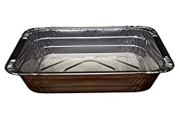 Green Direct Half Size Pans with Lids Perfect Aluminum Cake Pan with Lid Great to be used as a roasting pan in your kitchen, Comes in a pack of 30 pans and lids