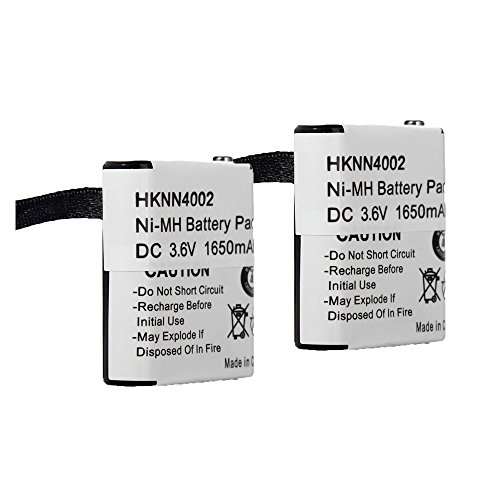 2pcs Masione 3.6V 1600mah HKNN4002 Two-Way Radio Battery for Motorola 53615 56315 HKNN4002 HKNN4002A HKNN4002B KEBT-071-A KEBT-071-B KEBT-071-C KEBT-071-D by Masione