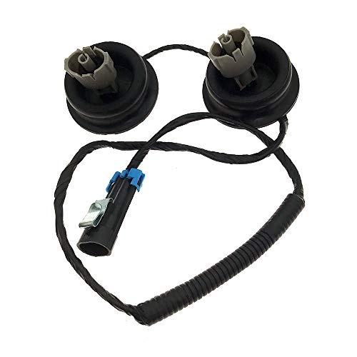 Engine Dual Knock Sensors with Wire Harness for Cadillac Escalade Chevrolet  Silverado Suburban Avalanche Tahoe GMC Sierra Replace OE# 12601822