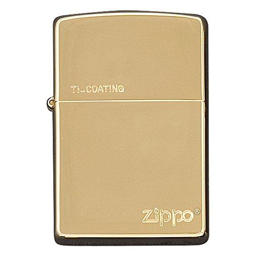zippo 名入れ ジッポー ライター チタン キズがつきにくい 金チタン A B01MCVL6YJ