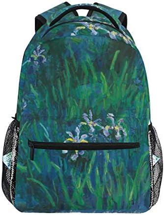 Ahomy Mochila Iris Monet Art Pintura al óleo Mochila Escolar para niñas niños Mujeres Ideal Viaje día Hombro Pack: Amazon.es: Equipaje