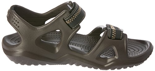 Crocs Swiftwater River, Sandalias Flip-Flop para Hombre braun