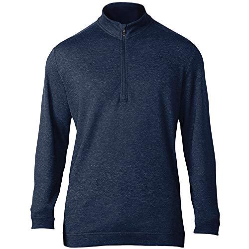 adidas Mens Wool 1/4 Zip Top (S) (Dark Slate) ()