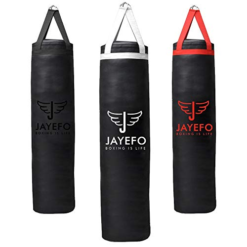 Jayefo Sports Punching Bag Heavy Hanging Boxing Bags for Muay Thai MMA Kickboxing Home Gym Training Fitness Workout for…