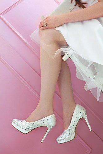 Rainbow Couture Brautschuhe Desario Ivory Satin (40)