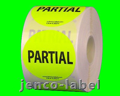 Jenco-Label IC2027Y, 500 2'' dia Partial Label/Sticker by Jenco-Label