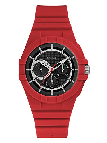 GUESS Men's Silicone Casual Watch, Color: Red (Model: U0942L4) - Guess Gc Men Watch