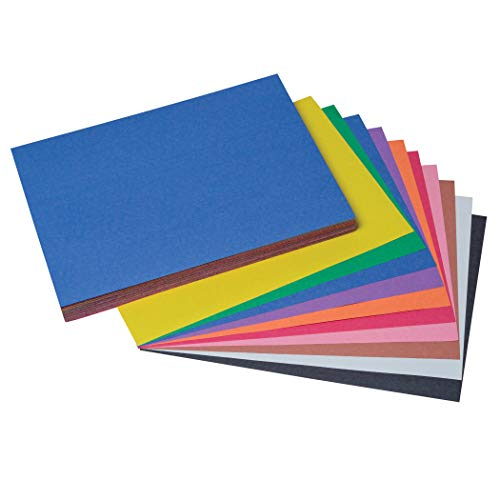 SunWorks PAC6504BN Construction Paper, 10 Assorted Colors, 9