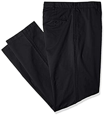 Calvin Klein Men's Big and Tall Soft Wash Dylan Chino Pant, Black, 42W 30L