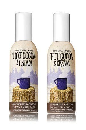 Bath and Body Works 2 Pack Hot Cocoa & Cream Room Spray 1.5 Oz.