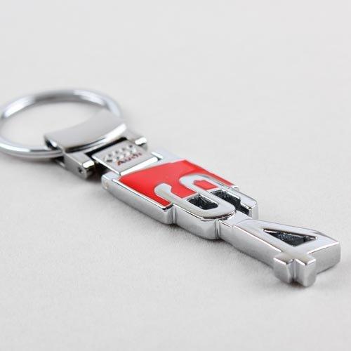 Audi S4 S-line Sline Logo Chrome Pendant Keychain