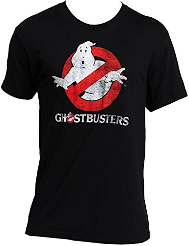 Men's Ghostbusters Faded Logo To Go Black T-Shirt