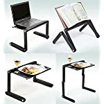FWQPRA® T8 Table for Laptop Stand for Bed and Sofa, Desk Portable Adjustable Laptop Table Stand Up/Sitting with Mouse…