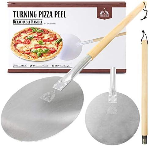 "9 inch diameter Blade Aluminum Turning Pizza Peel Paddle Long 31.5/"" Handle"