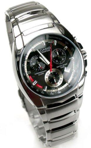 Casio Edifice Men's Stainless Steel Watch EF-510D-1AVDF Alarm (Casio Edifice Alarm Chronograph Watch)