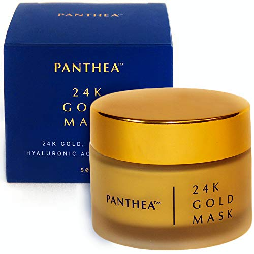 24K Gold Mask - Premium Luxury Facial Mask & Skin Illuminator with Anti Aging Benefits, Made in Canada with Organic Ingredients & Antioxidants: Vitamin C Camu Camu, Honey, Collagen & Hyaluronic Acid
