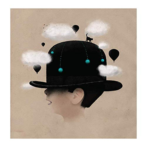 My Wonderful Walls Dreaming Big Enchanted Boy in Hat Decal by Florent Bodart Sticker, Large, Multicolored from My Wonderful Walls