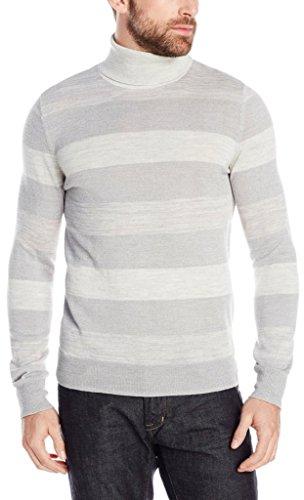 Calvin Klein Men's Merino Acrylic Striped Tank,  Shaker Grey Heather,  X-Large